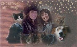 Christmas Collage showing family and all our animals