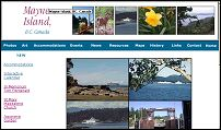 Information about Mayne Island, one of the southern gulfislands off the west coast of Canada